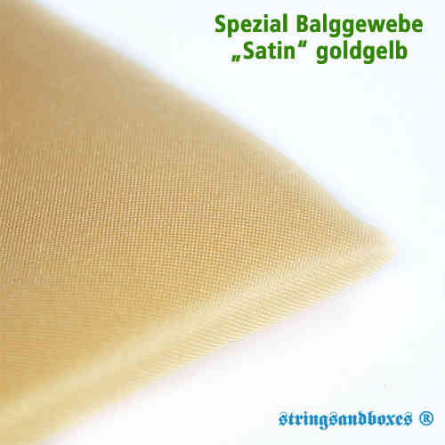 Akkordeon Balgtuch • Satin goldgelb
